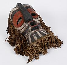 AFRICAN TRIBAL ART; LUBA-SONGE CARVED WOOD MASK; KIFWEBE SOCIETY - (Democratic Republic of the Congo) Masks in the Luba-Songe style...