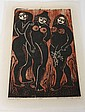 DALE DeARMOND (1914-2006, Alaska) WOODBLOCK ON PAPER - Signed, lower right. Titled