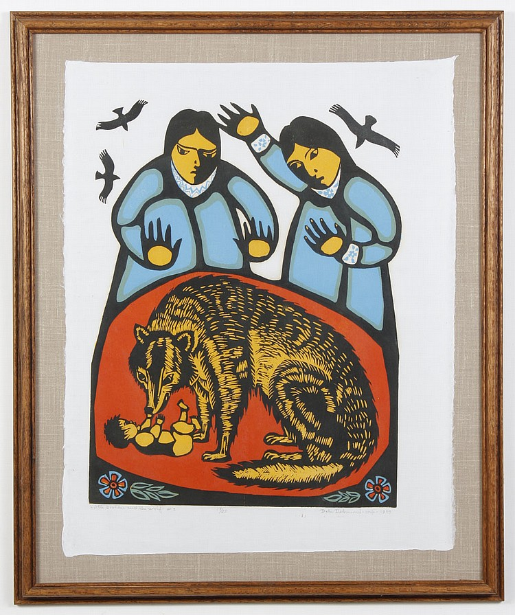 DALE DE ARMOND (1914-2006, AK) WOODBLOCK ON PAPER - Pencil signed and titled