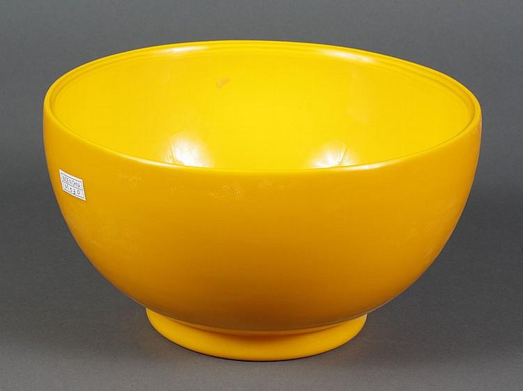 PEKING GLASS BOWL - Amber Peking glass bowl. Condition good. 6.75