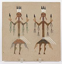 FANNIE CURTIS (1960) NAVAHO SAND PAINTING - Titled