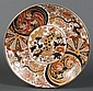 MAITLAND-SMITH CHARGER - Large white Japanese charger with polychrome decoration depicting animals, birds and botanical motifs. Mark...