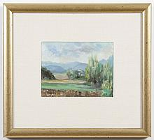 OIL PAINTING ON CANVAS - Signed landscape painting. Includes paperwork noting Dr. Lluis Marti. Titled