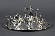 GORHAM STERLING SILVER COFFEE SERVICE SET - Six pieces in the