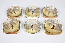 ROYAL DOULTON SERIES OF CHARACTER DISHES - Includes 5 square plates and 6 bowls with portrayals of Shakespearean characters and the...