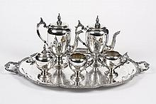 FIVE PIECE SILVERPLATE COFFEE SERVICE - Trademarked