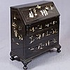SLANT FRONT WRITING DESK - Vintage Chinese, manufactured by the Majestic Company and marked with metal badge on reverse: