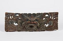 BALINESE GOD BARONG TEAK CARVING - Hand carved teak wood stained in colors of