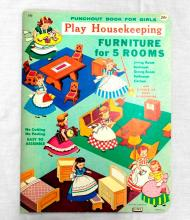 Punchout Book For Girls - Furniture for 5 Rooms
