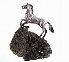 20th century, Portuguese silver, horse sculpture by Luís Ferreira.