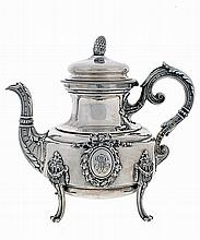 French silver tea pot, 19th/20th century
