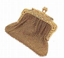 French gold coin pouch, 19th/20th century.