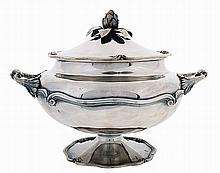 20th century Portuguese silver tureen.