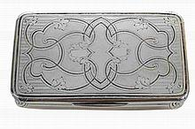 French 19th century silver snuff box.