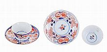 *Oriental porcelain pair of bowls and saucers.