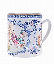 *Chinese porcelain 18th century mug.