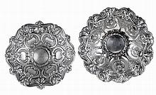 Two Portuguese silver fruit bowls.