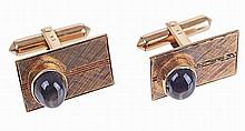 18kt gold pair of cuff links.