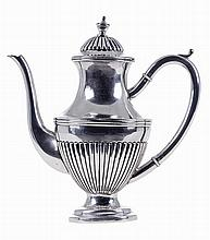 Portuguese silver, coffee pot, 20th century.