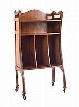 Wooden Art Nouveau bookcase.