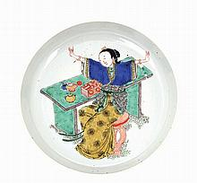 Chinese porcelain plate, with Chinese woman.