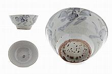 Chinese porcelain bowl, blue & white.