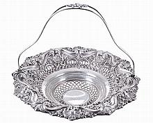 Portuguese silver, basket, 20th century.