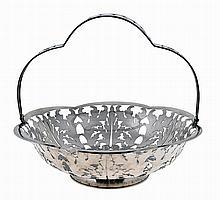 Portuguese silver basket, 20th century.