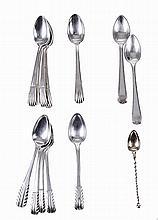 Set of 13 Portuguese silver tea spoons