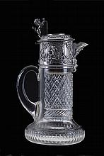 Crystal and silver ewer by Topazio.