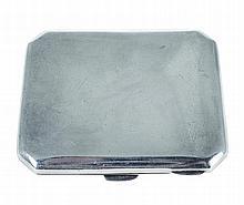 English silver cigarette case, 1919/20.