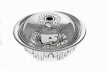 Portuguese silver bowl and cover, late 19th/20th Century.