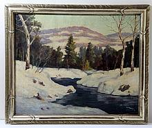 A.B. HEROLD OIL PAINTING 1938 VERMONT