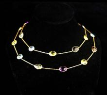 LADIES 14K YELLOW GOLD ITALIAN NECKLACE