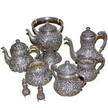 1897 8 Piece Hamilton & Diesinger Flower tea set