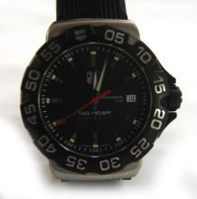 RARE TAG HEUR FORMULA BLACK WRIST WATCH