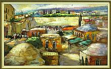 SLAVA BRODINSKY 1955 - RUSSIAN OIL  OLD JERUSALEM
