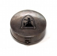 19TH CENTURY STERLING SILVER DOUBLE SIDED PILL BOX