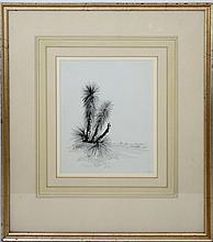 LOUIS K. HARLOW 1850-1913 ORIGINAL WATERCOLOR