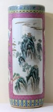 CHINESE REPUBLIC FAMILLE ROSE UMBRELLA STAND