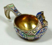 RUSSIAN SILVER AND ENAMEL KVOSCH RUCKERT