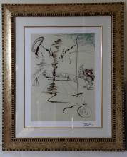 SALVADOR DALI COLORED LITHOGRAPH