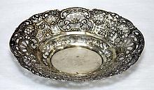 ANTIQUE RETICULATED STERLING SILVER TRAY