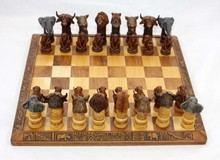 SOUTH AFRICAN HAND MADE CLAY CHESS SET