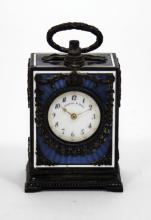 FRENCH  GUILLOCHE CARRIAGE CLOCK THEODORE B. STARR