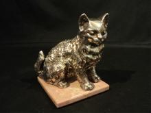 STERLING SILVER CAT / KITTEN FIGURINE