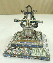 Russian Enamel on Sterling Silver Desk Set