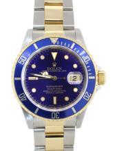 Rolex Submariner Steel 18k Gold Two Tone