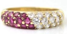 VAN CLEEF & ARPELS 18K DIAMOND & RUBY RING