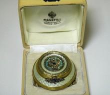 RUSSIAN IMPERIAL SILVER ENAMEL PILL BOX